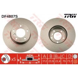 Discos Freno TRW BMW DF480S