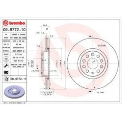 BREMBO - 09.9772.10 - Disco de freno