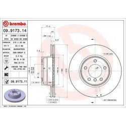 BREMBO - 09.9173.14 - Disco de freno