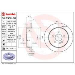 BREMBO - 08.7936.10 - Disco de freno