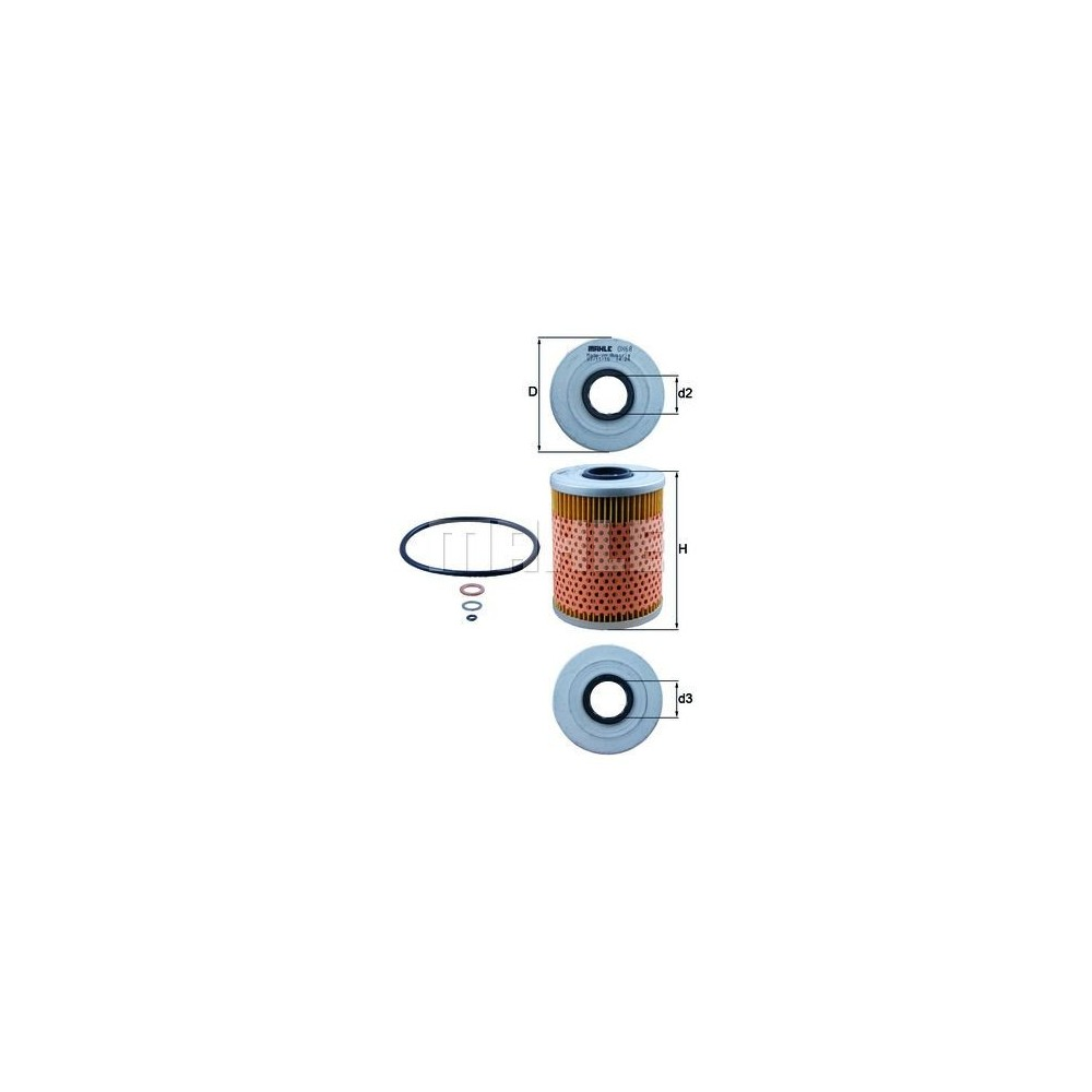 Filtro aceite Mahle OX 68D