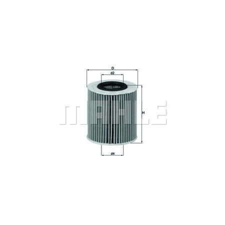 Filtro aceite Mahle OX 166/1D