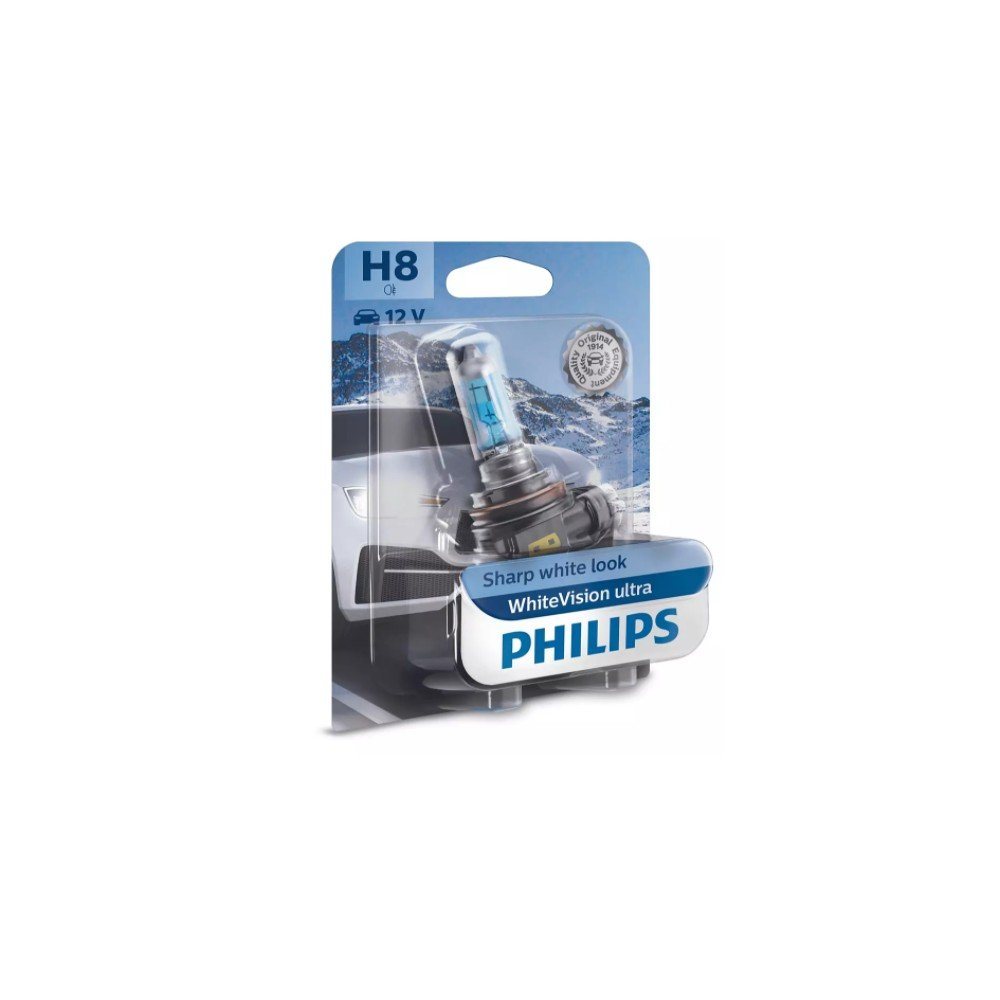 Lámpara H8 Philips WhiteVision Ultra