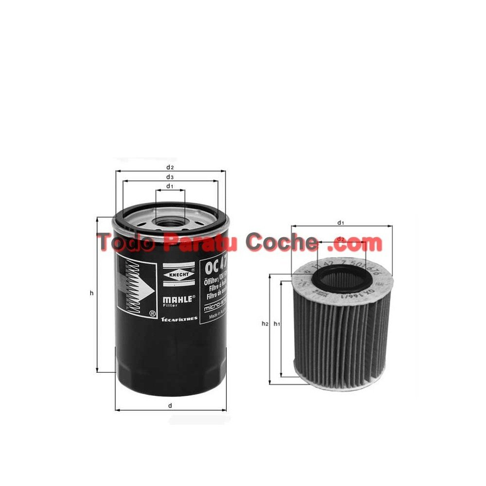 Filtro aceite Mahle OX 135/1D