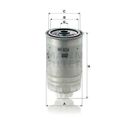 Filtro combustible Mann WK 8034