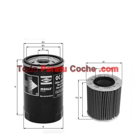 Filtro aceite Mahle OX 560D