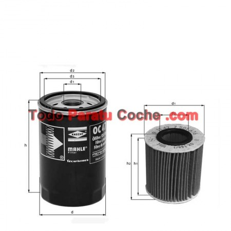 Filtro aceite Mahle OX 562D