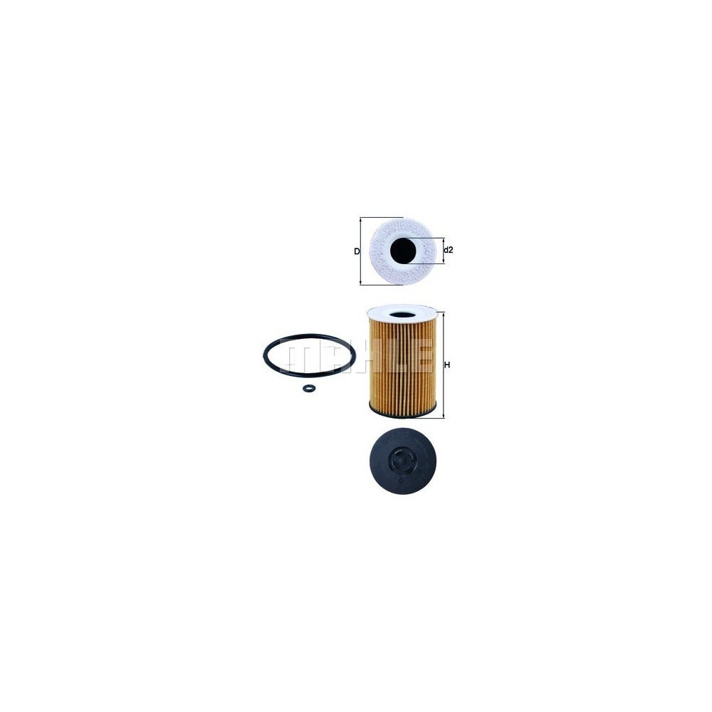 Filtro aceite Mahle OX 787D